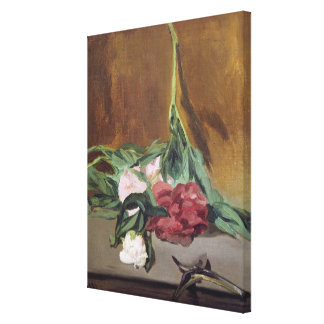 Manet | Stem of Peonies and Secateurs, c.1864 Canvas Print