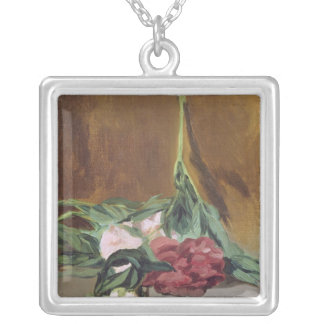 Manet | Stem of Peonies and Secateurs, c.1864 Silver Plated Necklace