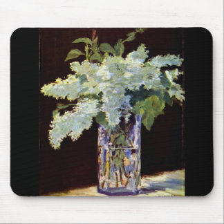 Manet Still Life White Lilacs Mouse Pad