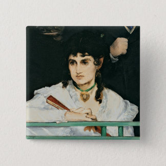 Manet | The Balcony, detail, 1868-9 15 Cm Square Badge