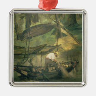 Manet | The Fisherman, c.1861 Silver-Colored Square Decoration