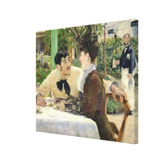 Manet   The Garden of Pere Lathuille, 1879 Canvas Print