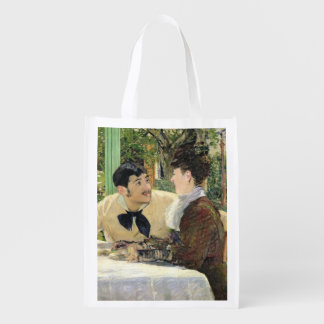 Manet | The Garden of Pere Lathuille, 1879 Reusable Grocery Bag