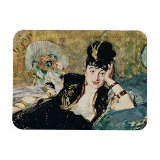 Manet | The Lady with Fans Rectangular Photo Magnet