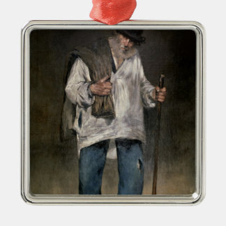 Manet | The Ragman, 1869 Silver-Colored Square Decoration