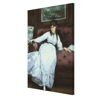 Manet | The Rest, portrait of Berthe Morisot Canvas Print