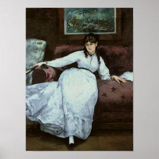 Manet | The Rest, portrait of Berthe Morisot Poster