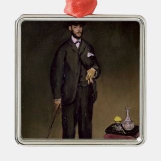 Manet | Theodore Duret Silver-Colored Square Decoration