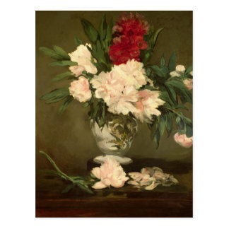 Manet | Vase of Peonies on a Small Pedestal, 1864 Postcard