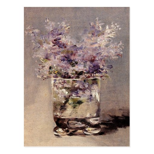 Manet's Lilacs in a Glass - Postcard