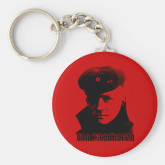 Manfred Von Richthofen Basic Round Button Key Ring