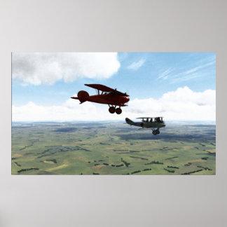 Manfred Von Richthofen Escort Duty. Poster
