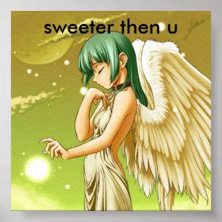 manga angel sweeter then u posters