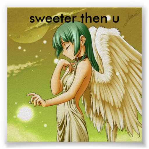 manga angel  sweeter then u poster