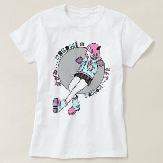manga demon girl pink t shirts