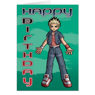 Manga Dude Birthday Card
