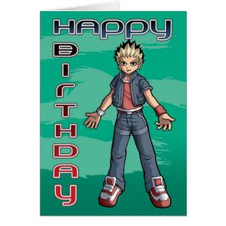Manga Dude Birthday Greeting Card