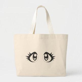 Manga eyes large tote bag