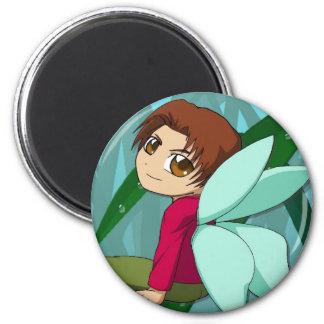 Manga fairies design by Nekoni 6 Cm Round Magnet