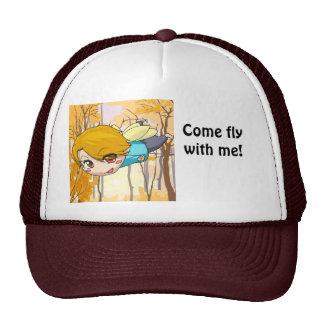 Manga fairy flying boy cap