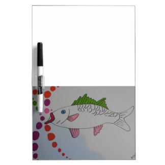 Manga fish dry erase white board