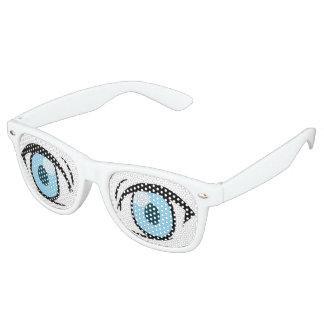 Manga Freaking Eyes Retro Sunglasses