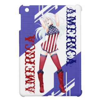 Manga girl 'America' by Nekoni Case For The iPad Mini