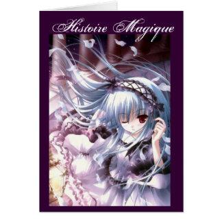 manga-girl-Gothic Greeting Card