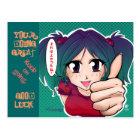 Manga girl with thumb up - card