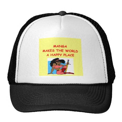 manga mesh hat