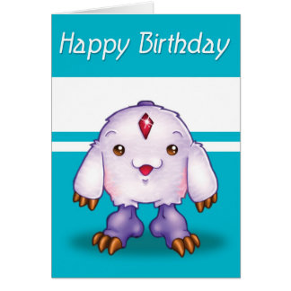 Manga Monster Happy Birthday Card