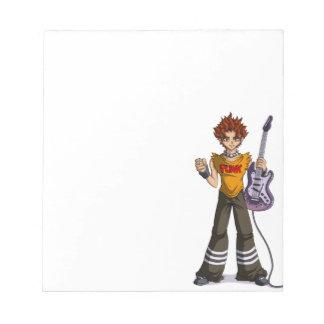 Manga Punk Guitar Player Notepad