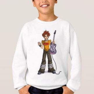Manga Punk Guitar Player Sweatshirt