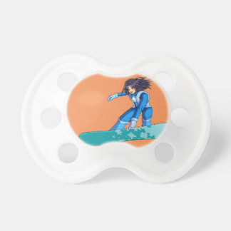Manga Snowboarder Girl Pacifier