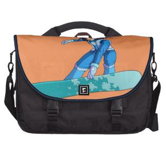 Manga Snowboarder Girl Laptop Computer Bag