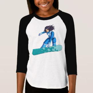 Manga Snowboarder Girl T-Shirt