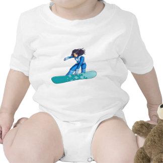 Manga Snowboarder Girl Baby Creeper