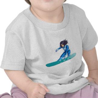 Manga Snowboarder Girl T-shirts