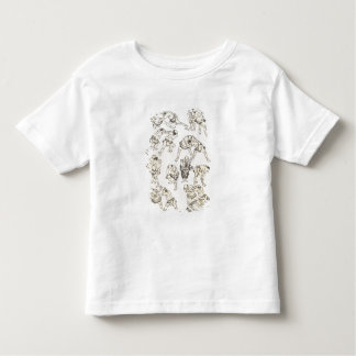 Manga: studies of gestures and postures of wrestle toddler T-Shirt