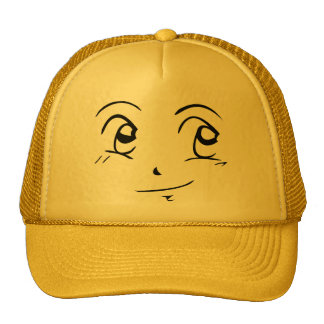 Manga Style Smiley Pleased Hat