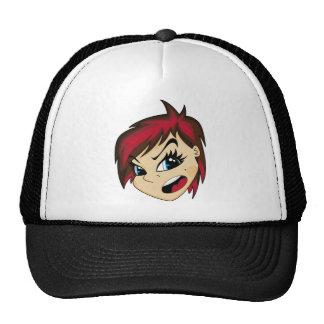 Manga Styled Emo Girl Cap Hat