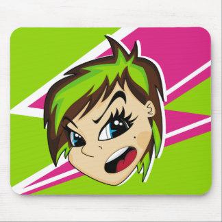 Manga Styled Emo Girl Mousepad