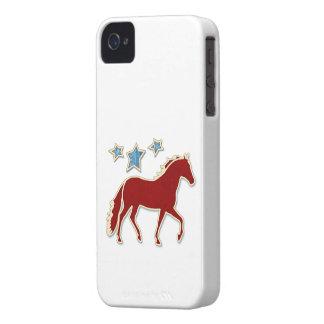 Mangalarga Marchador Festive Stars iPhone 4 Case-Mate Cases