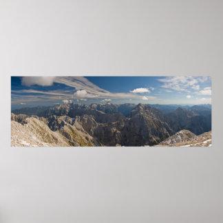 Mangart to Triglav National Park Slovenia panorama Poster