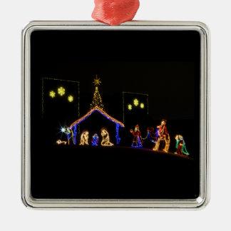 Manger Scene Jesus Ornament