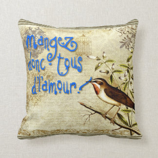mangez donc tous d'l'amour throw cushions