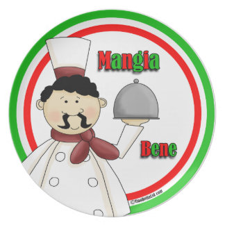 Mangia Bene! Eat Well! Party Plates