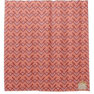 Mangled Peach Luxurious Modern Shower Curtain