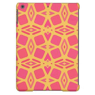 Mango and Papaya Hearts and Cubes iPad Air Cover