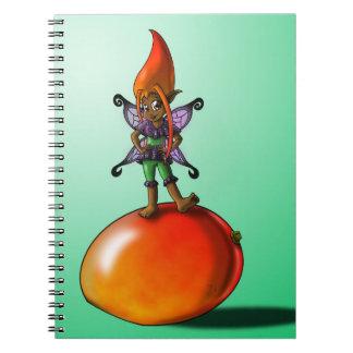 Mango Fairy Tabia Notebook Spiral Note Book